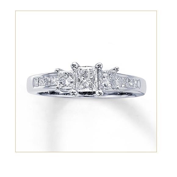 be62683952dd2b Kay Jewelers Jewelry | Threestone Diamond Ring 1 Ct Tw Princesscut ...